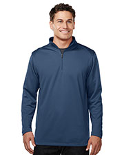 Tri-Mountain K628 Men 100% Polyester 1/4 Zip Pullover W/Tmp Puller