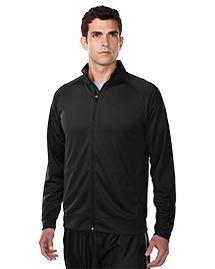 Tri-Mountain K630 Men 100% Polyester Knit Full Zip Jacket