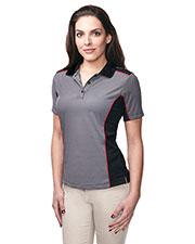Tri-Mountain KL340 Women 100% Polyester Y.D. Knit S/S Golf Shirt at bigntallapparel