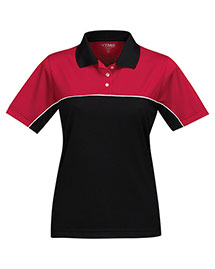 Tri-Mountain KL908 Women 100% Polyester Color Blocking Polo Shirt