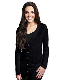 Tri-Mountain LB928 Women Boyfriend Sweater Cardigan at bigntallapparel