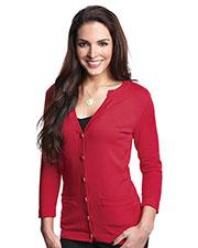 Tri-Mountain LB929 Women 3/4 Sleeve Sweater Cardigan