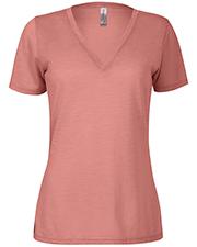 Platinum P514S Women Delta  Ladies Slub Short Sleeve V-Neck Tee